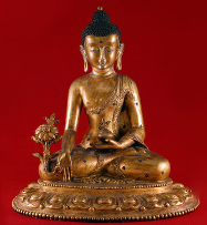 Medicine Buddha golden statue
