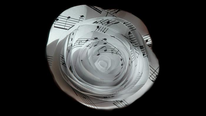 music written on paper flower by MorningbirdPhoto [Pixabay]