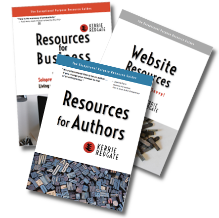 covers of Resource Guides by Kerrie Redgate